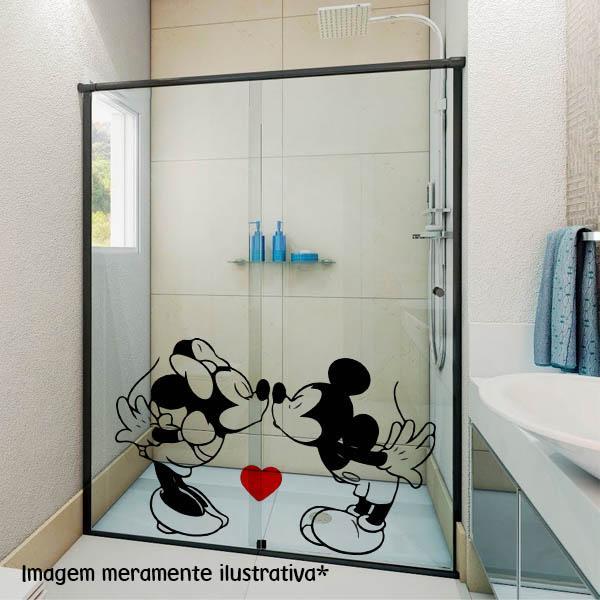 Adesivo para Box Minnie e Mickey Transparente