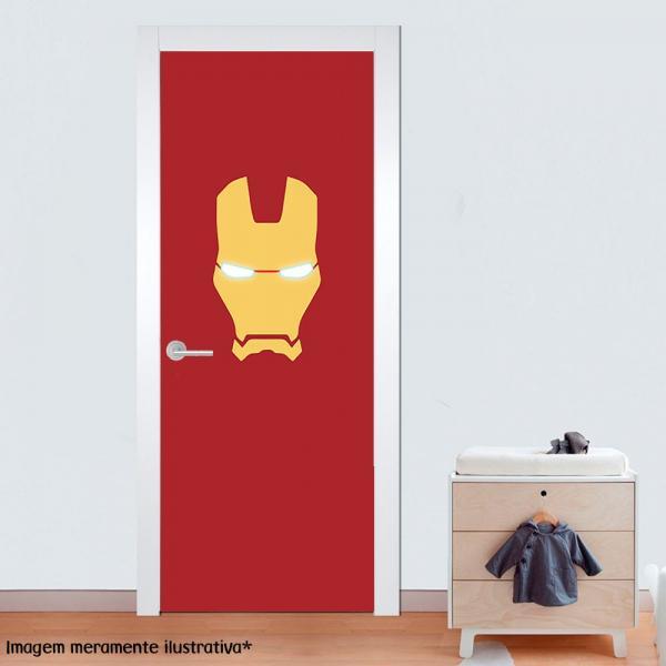 Adesivo para Porta Homem de Ferro