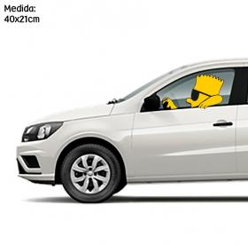 Adesivo para carro Bart Simpson Dirigindo Vinil Adesivo    Refile Especial