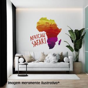 Adesivo de Parede African Safari Vinil Adesivo    Refile Especial