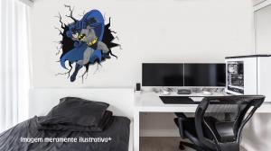 Adesivo de Parede Buraco Falso Batman Vinil Adesivo    Refile Especial
