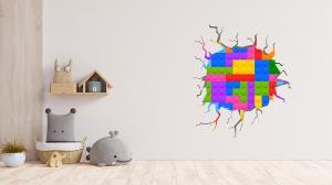 Adesivo de Parede Buraco Falso Lego Vinil Adesivo    Refile Especial