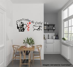 Adesivo de Parede Cantinho do Café   Mod01 Vinil Adesivo    Refile Especial