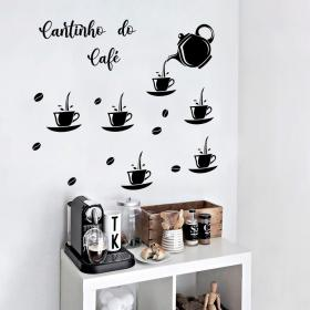 Adesivo de Parede Cantinho do Café Vinil Adesivo    Refile Especial