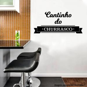 Adesivo de Parede Cantinho do Churrasco Vinil Adesivo    Refile Especial