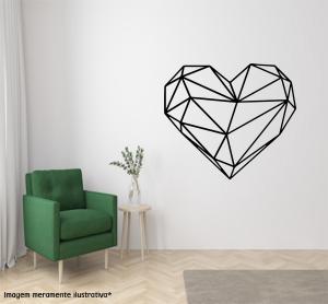 Adesivo de Parede Coração em Origami Vinil Adesivo    Refile Especial