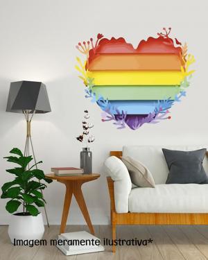 Adesivo de Parede Coração Pride Vinil Adesivo    Refile Especial