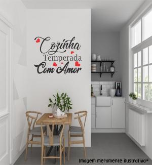Adesivo de Parede Cozinha Temperada Vinil Adesivo    Refile Especial