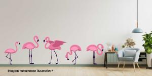 Adesivo de Parede Flamingo Vinil Adesivo    Refile Especial
