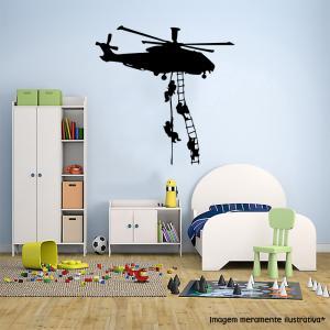 Adesivo de Parede Helicóptero vinil Adesivo    Refile Especial