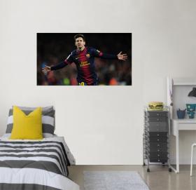 Adesivo de Parede Lionel Messi Vinil Adesivo    Refile Reto