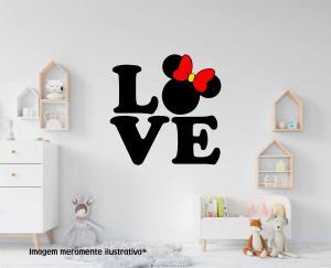 Adesivo de Parede Love Minnie Vinil Adesivo    Refile Especial