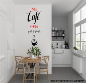 Adesivo de Parede mais café Vinil Adesivo    Refile Especial