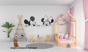 Adesivo de Parede Mickey e Minnie Vinil Adesivo    Refile Especial