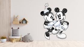 Adesivo de Parede Mickey e Minie Vinil Adesivo    Refile Especial