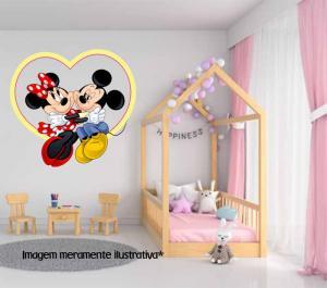 Adesivo de Parede Coração Mickey e Minnie Vinil Adesivo    Refile Especial