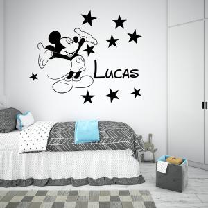 Adesivo de Parede Mickey Personalizado Vinil Adesivo    Refile Especial
