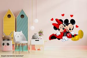 Adesivo de Parede Minnie e Mickey Apaixonados Vinil Adesivo    Refile Especial