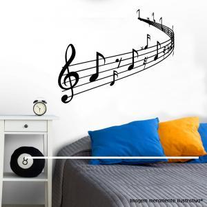 Adesivo de Parede Nota Musical Vinil Adesivo    Refile Especial