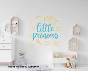 Adesivo de Parede Pequena Princesa Vinil Adesivo    Refile Especial