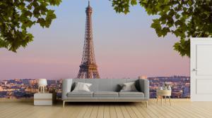 Adesivo de Parede Personalizado Paris Vinil Adesivo    Refile Reto