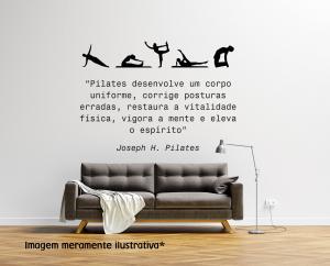 Adesivo de Parede Pilates Vinil Adesivo    Refle Especial