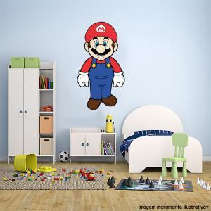 Adesivo de Parede Super Mario 2 Vinil Adesivo    Refile Especial