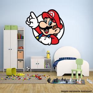 Adesivo de Parede Super Mario 3 Vinil Adesivo    Refile Especial