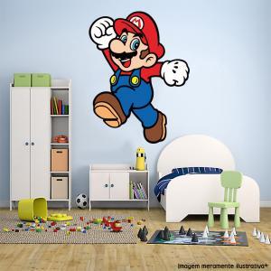 Adesivo de Parede Super Mario 4 Vinil Adesivo    Refile Especial
