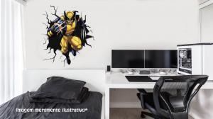 Adesivo de Parede Buraco Falso Wolverine Vinil Adesivo    Refile Especial