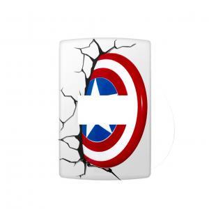 Adesivo Interruptor Escudo Capitão America Vinil Adesivo    Refile Reto