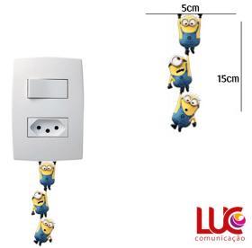 Adesivo de parede para Interruptor Minions Vinil Adesivo 5 x 15 cm   Refile Especial