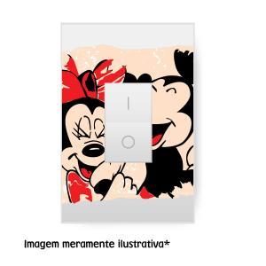 Adesivo Interruptor Minnie e Mickey Vinil Adesivo    Refile Especial