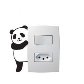 Adesivo Interruptor Panda Vinil Adesivo 8 x 5 cm   Refile Especial