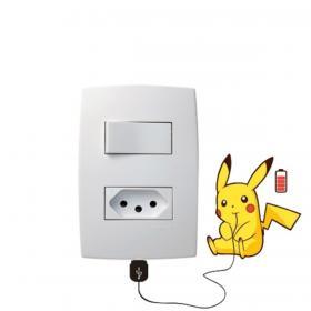 Adesivo de Parede para Interruptor Pikachu Vinil Adesivo    Refile Especial