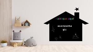 Adesivo Quadro Negro Casa Vinil Adesivo    Refile Especial