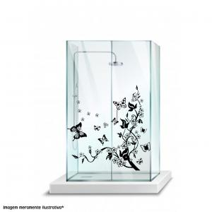 Adesivo para Box Floral e Borboleta Vinil Adesivo    Refile especial