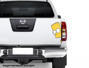 Adesivo para Carro Bart Simpson Vinil Adesivo    Refile Especial