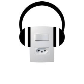 Adesivo de Parede para Interruptor Fone de ouvido Vinil Adesivo 15 x 18 cm   Refile Especial