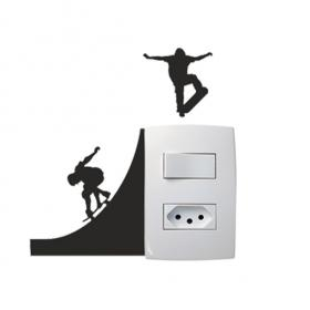 Adesivo para interruptor Skatista Vinil Adesivo 12 x 10 cm   Refile Especial