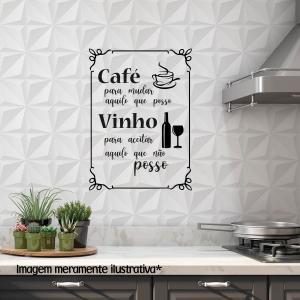 Adesivo para Parede Café e Vinho Vinil Adesivo    Refile Especial
