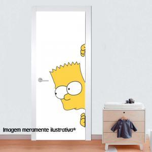 Adesivo para Porta Bart Simpson Vinil Adesivo    Refile Especial