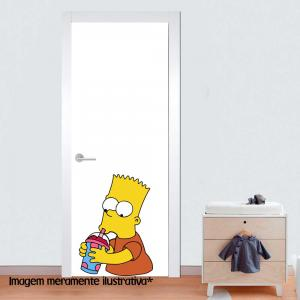 Adesivo para Porta Bart Simpsons 02 Vinil Adesivo    Refile Especial
