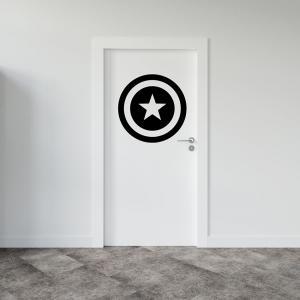 Adesivo para Porta Escudo Capitão America Vinil Adesivo    Refile Especial