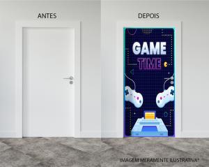 Adesivo para Porta Game Time Vinil Adesivo    Refile Reto