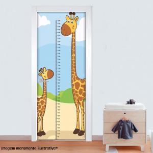 Adesivo para Porta Régua Girafa Vinil Adesivo    Refile Reto