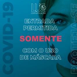Cartaz Proibido entrada sem mascara PERSONALIZADO Vinil Adesivo   PS 0.5 mm Refile especial