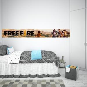Faixa Decorativa Free Fire Vinil Adesivo    Refile Reto