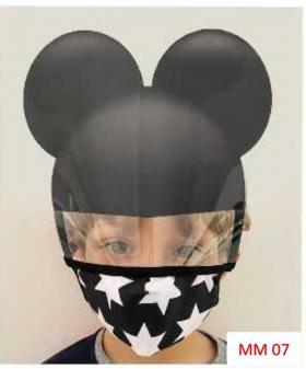 Máscara Proteção Facial Infantil com Face Shield - Mickey Poliester e Algosão