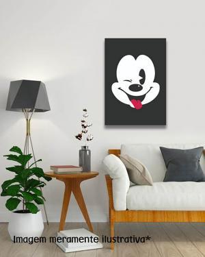 Placa Decorativa Mickey MDF Adesivado    Refile Reto